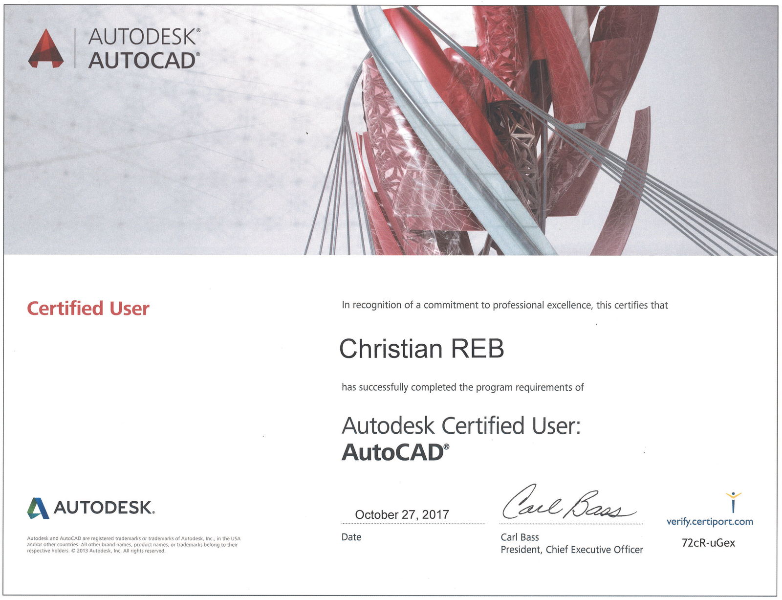 Certification Autodesk Certificat N Dagrment Numro De